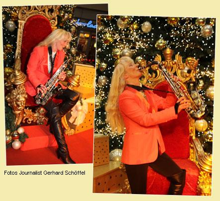Saxophonist Weihnachtsshow