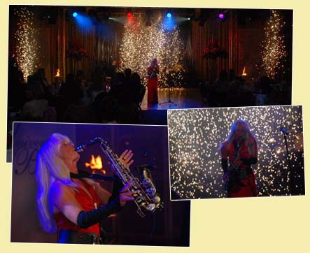 Saxophonist live mit Saxophonshow