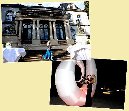 Saxophonistin in Baden-Baden und in Düsseldorf i.d. Nacht