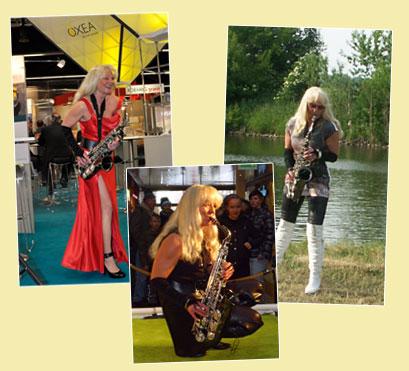 Livemusik der Saxophonistin Kathrin Eipert bei Firmenfeier und Event