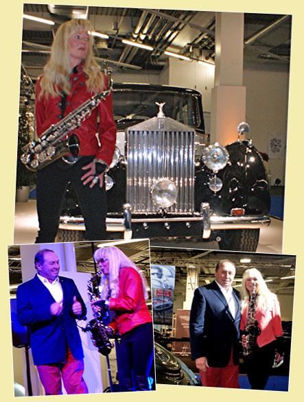 Saxophonistin Rolls-Royce München