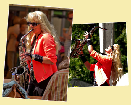 Saxophonistin in München mit G. Trappatoni